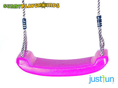 SWING SEAT PINK Plastic Set With Rope Accessories Playground Outdoor Kids
