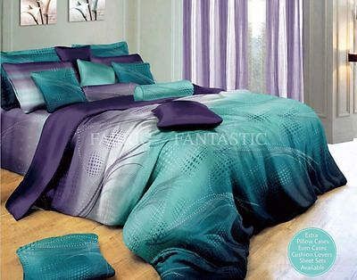 ZEPHYR Sheet Set Queen/King Size Bed Flat&Fitted&Pillowcases 100% Cotton New