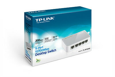 TP-LINK TL-SF1005D 5-Port 10/100Mpbs Desktop Switch Windows 10 OK  [F73]
