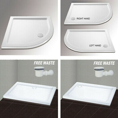Quadrant/square/rectangle tray for shower enclosure glass door  Free Waste