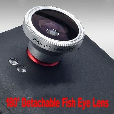 Detachable Magnetic Fish Eye Lens 180 Degree Wide Angle Macro For iPhone HTC New