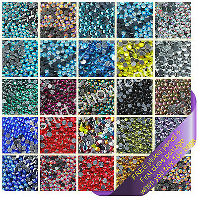 Hotfix Glass Rhinestone Diamante Crystal Top Quality DMC Flat Back Iron On Beads