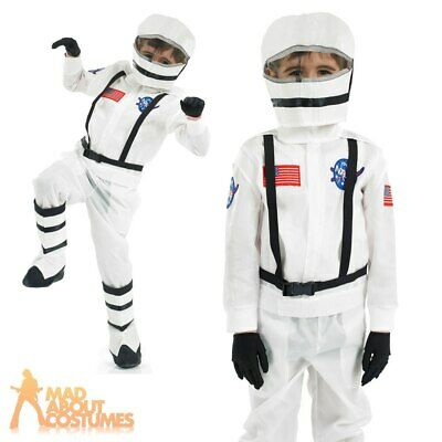 Boys Astronaut Costume Spaceman Child NASA Fancy Dress Outfit Age 4 - 12