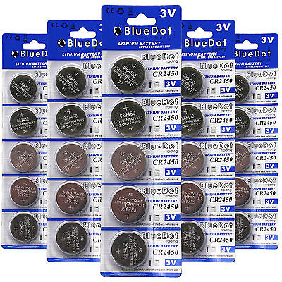 25Pcs 3V CR-2450 Lithium Button Cell Batteries For use with Toys Cameras Watches