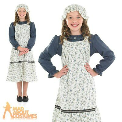 Victorian School Girl Costume Child Book Day 1940s Wartime Fancy Dress Outfit
