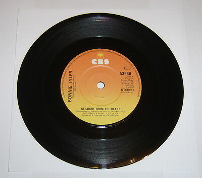 """Bonnie Tyler Straight From The Heart 7"""" Single A1 B1 Pressing - EX"""