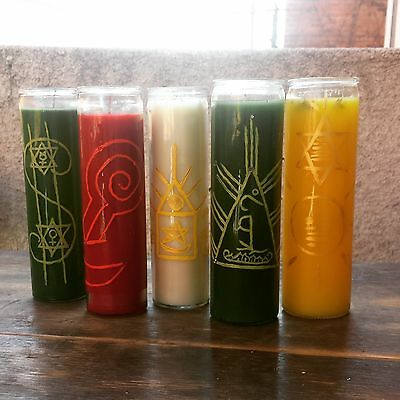 """""""LOVE SPELL Glass Candle"""" ~Wicca~Pagan~Hoodoo~ + FREE ANGEL CARD READING!"""