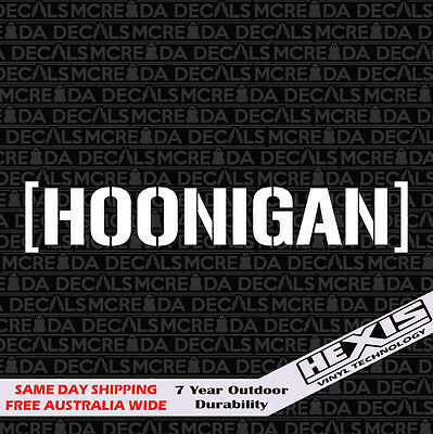 Funny Hoonigan Car Sticker Decal Vinyl For JDM Illest Drift Hoon Stance Lowered