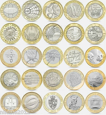 Various Rare Great Britain £2 Two Pound Coins collector money collection
