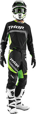 Combo Thor Core Bend Black Green Fluo 2015 Taglia 36/52  E Xl Cross Enduro
