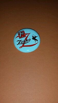 Vintage 1957 Zorro 7-Up Pinback Buttons, Walt Disney Production Advertising.