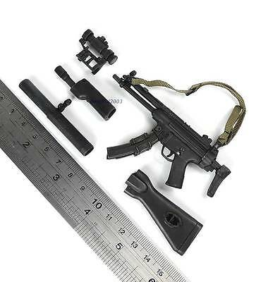 """1/6 Scale MP5 Rifle Set From Hot Toys SDU 3.0 12"""" Action Figure"""