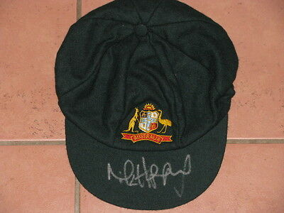 Michael Hussey Hand Signed Cricket Cap Hat
