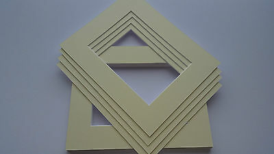 CREAM PICTURE & PHOTO FRAME MOUNTS - All Popular sizes and pack quantities