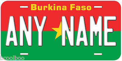 Burkina Faso Flag Novelty Car License Plate