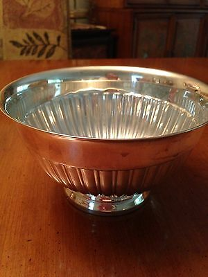 "Towle Bowl, mid century. post 1940. 7"" dia., 3 1/2"" footed base"
