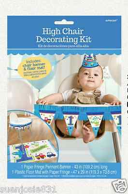 All Aboard 1st Birthday Boy HighChair Kit Party Decoration Supplies