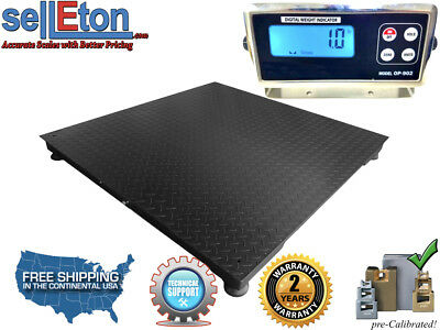 """New 10000 lb x 1lb  40"""" x 40"""" Floor Scale / Pallet Scale with Metal Indicator"""