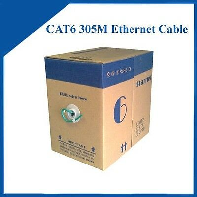305m/1000ft Cat6 Ethernet Lan cable Green color