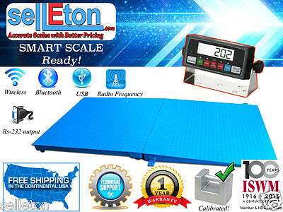 """New 48"""" x 48"""" Pallet size Floor Scale with a ramp, 10,000 lb capacity"""