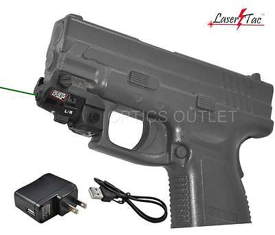 Lasertac Subcompact Green Laser Sight for Springfield XD XD-S XDM Pistols