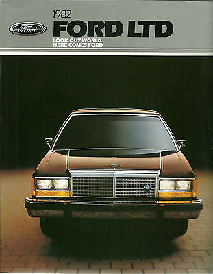 Catalogue Publicitaire Ford Ltd  1982 - Usa