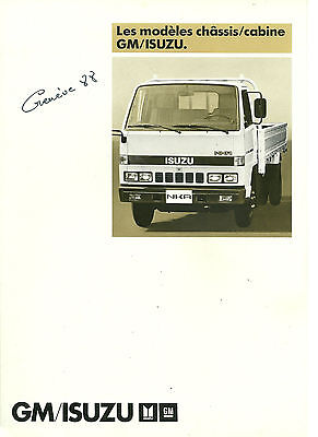 Catalogue Publicitaire Isuzu 1988