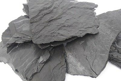 25 Kg Natural Black Slate Stone For An Aquarium Vivarium Rock