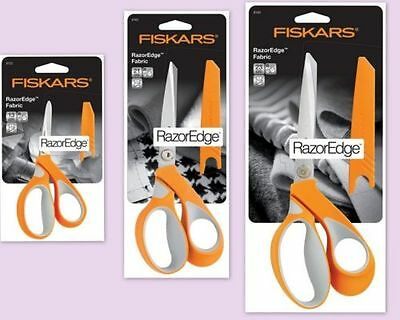 FISKARS premium fabric RazorEdge Softgrip SCISSORS CHOICE OF 3 SIZES