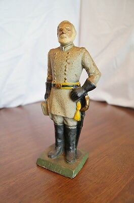 VTG CAST IRON CIVIL WAR FIGURE GENERAL ROBERT E. LEE has name on front
