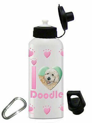 Poodle Water Bottle Stainless Steel 20 oz