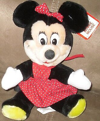"VTG MINNIE MOUSE PLUSH 8"" MADE EXCLUSIVELY FOR DISNEYLAND DISNEY WORLD with tag!"