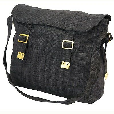 New Heavy Duty Canvas Messenger Black Shoulder Bag Cross Body Carry Travel Tote