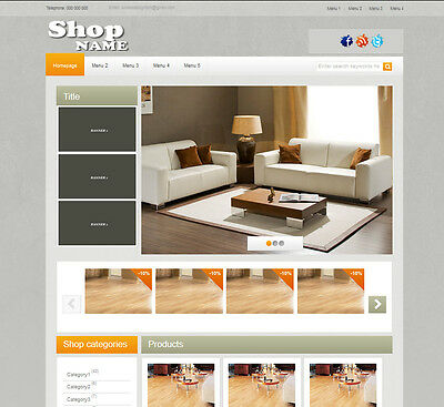 Ebay Shop Template Professional Listing Template - Full Online Ebay Store Design