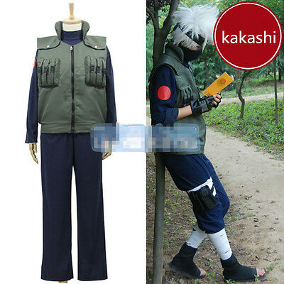 PRECO Cosplay Kakashi cosplay costume include all Accessories