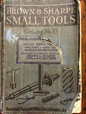 BROWN & SHARPE 1938 SMALL TOOLS CATALOG 33 Machinist Toolmakers Paperback