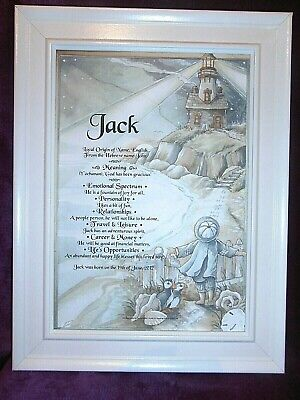 Baby Name Meaning Scroll Boy/girl Christening Naming Day Gift Free Priority Post