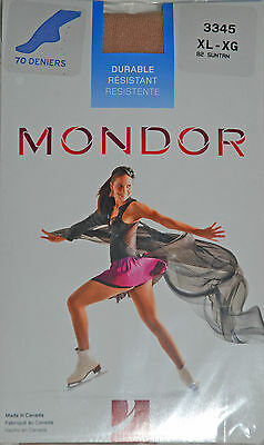 Mondor Suntan 3345 Footed Ice Skating Tights - Figure Skater Tights - Practice