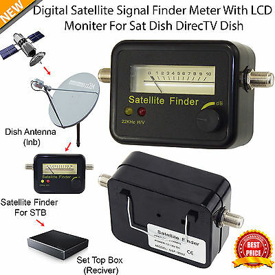 New Mini Digital Satellite Signal Finder Meter With LCD Display for Sat Dish UK