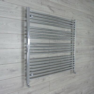 1000 mm 1m High Heated Towel Rail Radiator Chrome Flat Designer Bathroom Niche
