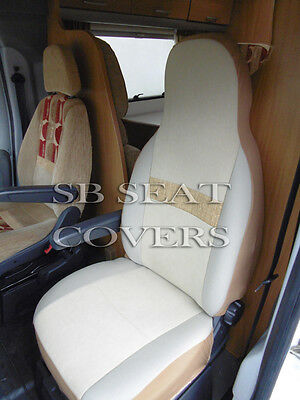 Fiat Ducato Motorhome Seat Covers Mh 512 Sylvia Oatmeal 2 Fronts