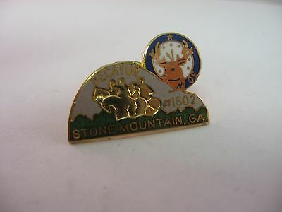 Vintage ELKS Lapel Hat Pin: Stone Mountain Georgia GA #1602 Decatur