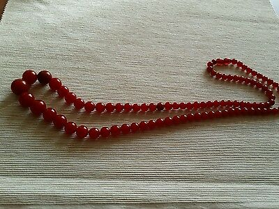 Cherry Amber Bakelite  Catalin Prayer Beads Ottoman Original Necklace