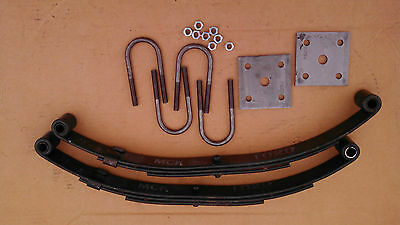 2 x 1,000 lb springs and u-bolt kit for trailer 2,000 # single axle suspension