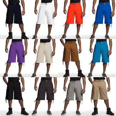 NWT MEN ROYAL BLUE APPAREL 12 DIFFERENT COLORS OF CARGO SHORTS 9312N