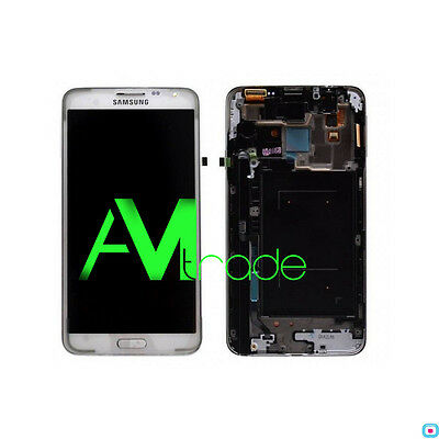 LCD + DISPLAY COMPLETO TOUCH ORIGINALE SAMSUNG GALAXY NOTE 3 NEO N7505 BIANCO