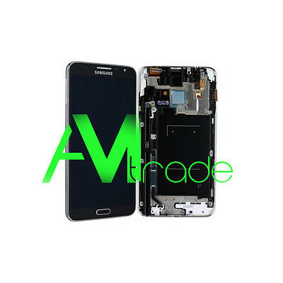 LCD +DISPLAY COMPLETO TOUCH ORIGINALE SAMSUNG GALAXY NOTE 3 NEO N7505 NERO BLACK