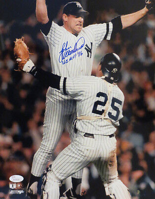John Wetteland Signed Yankees 1996 World Series MVP 11x14 Baseball Photo JSA COA