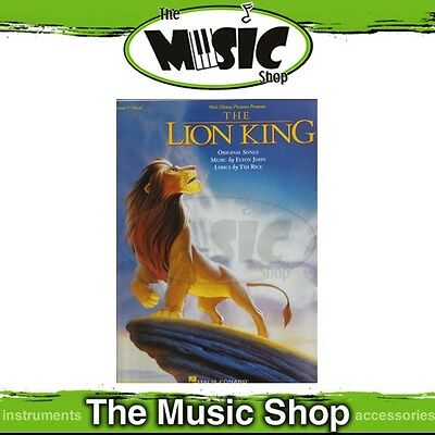 New Disney's The Lion King Piano & Vocal Selections Music Book