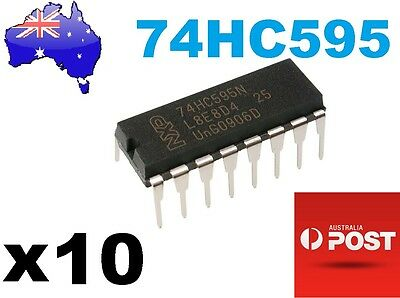 10x 74HC595N 8 Bit Shift Register Arduino/PIC 16Pin DIP AU STOCK Fast Delivery